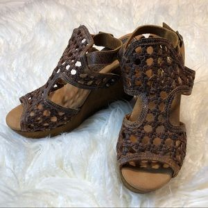 Sbicca Woven Clog with Ankle Strap